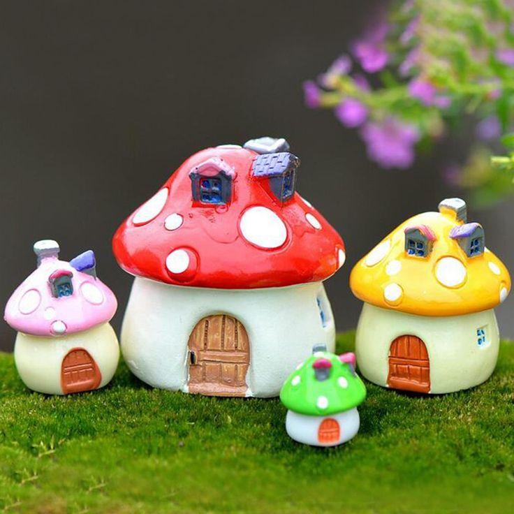 Hot Mushrooms Doll House Garden Flower Pot Bonsai Toy Miniature Random Color #Unbranded