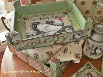 How many of these crates did I throw away! Get out the decoupage and paint!