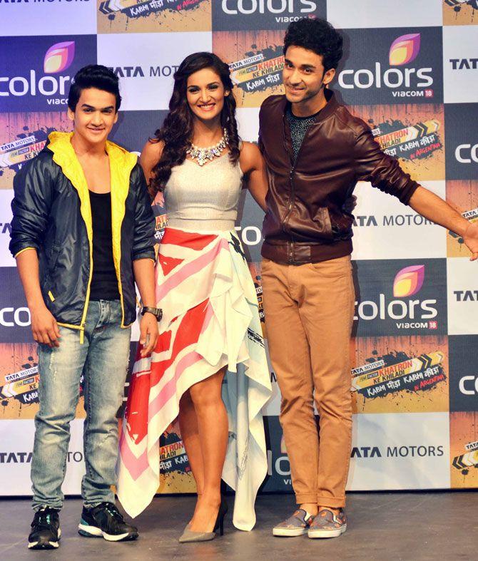 Faisal Khan, Shakti Mohan and Raghav Juyal at the launch of a new season of 'Fear Factor: Khatron Ke Khiladi'. #Bollywood #Fashion #Style #Beauty