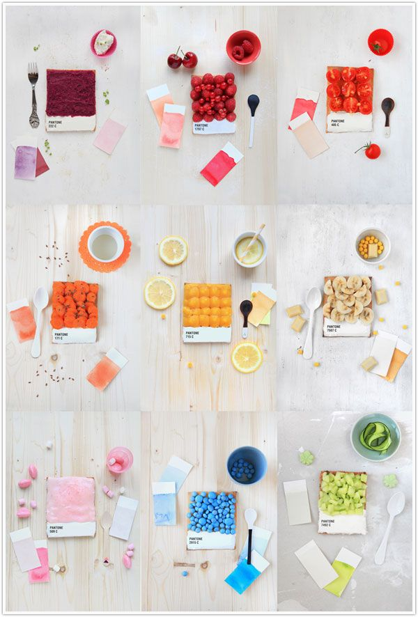 Pantone Produce.   <3Desserts, Pantone Colors, Art Director, Rainbows, Magazines, French Food, Colors Swatches, Fruit Tarts, Design