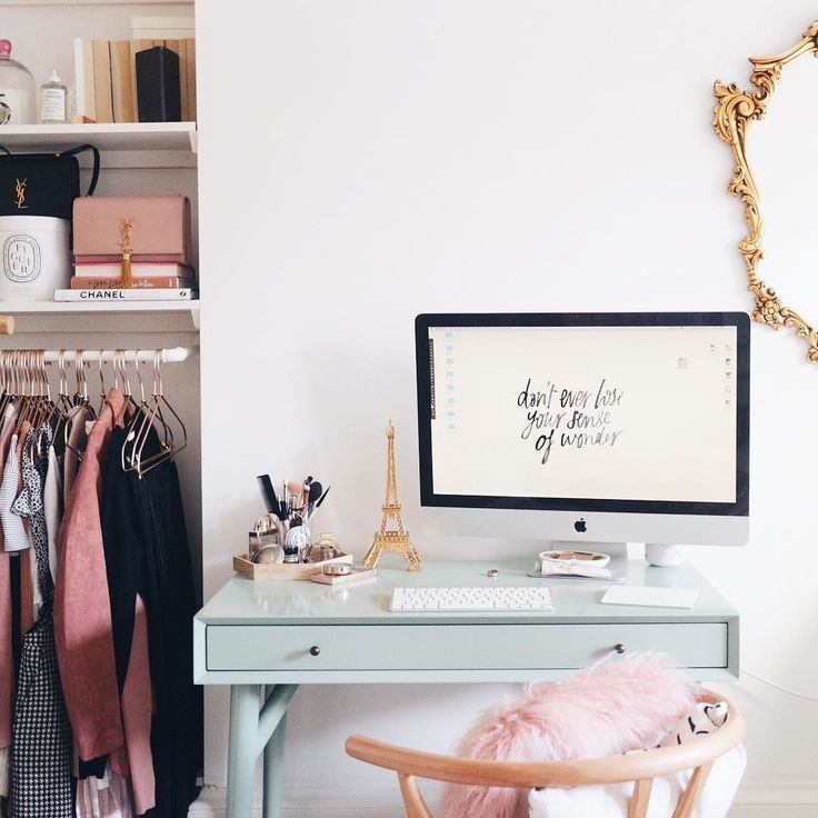 The desk sitch while my office is revamped kind of like my dressing table here