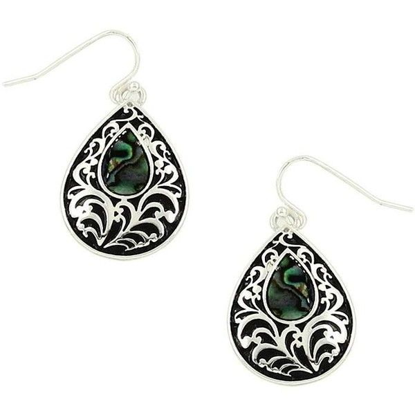 Filigree and abalone filled tear drop earrings ($14) ❤ liked on Polyvore featuring jewelry, earrings, teardrop earrings, abalone jewelry, fishhook earrings, fish hook earrings and filigree jewelry