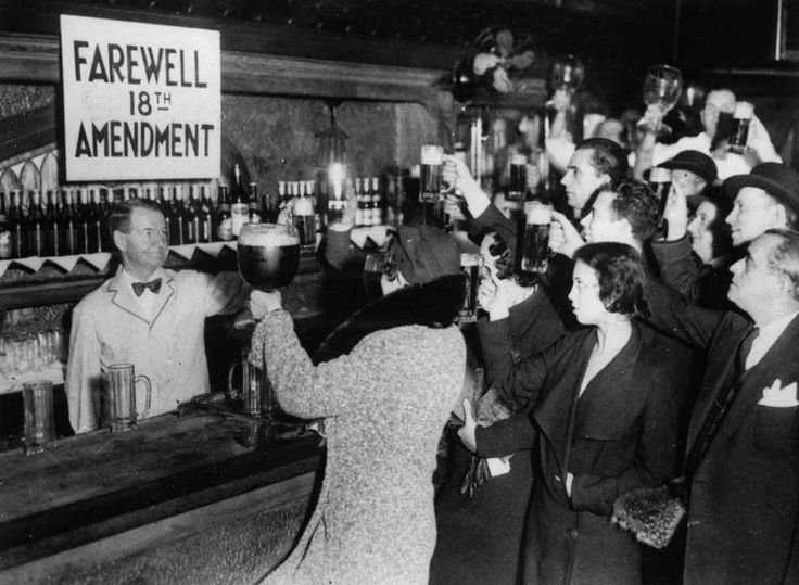 February 17,   1933: Blaine Act ends prohibition  -    The United States senate passes the Blaine Act which signals the end of prohibition after many dry years.