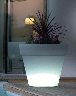 #LED #color changing #planter #flower #pot #remote control  Get yours here:  http://moderngarden.co/Large%20Illuminated%20Remote%20Controlled%20LED%20Flower%20Pot.php