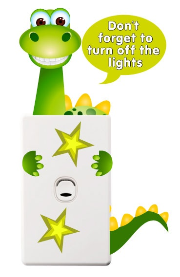 Wholesale Printers - smartwalling - Dinosaur Light Switch Sticker, $3.99 Movable and Re-usable (http://www.wholesaleprinters.com.au/dinosaur-light-switch-sticker)