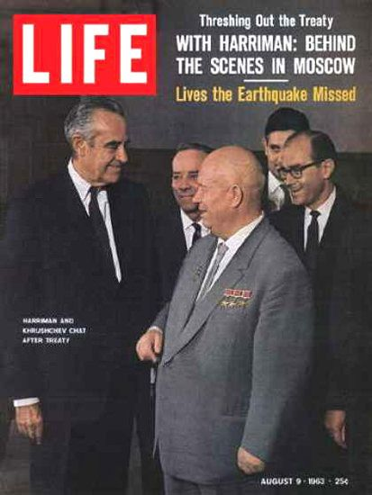 Life Magazine Copyright 1963 Nikita Chruschtschow Cuba Treaty - www.MadMenArt.com   Life Magazine ran weekly from 1883 to 1972. First as a humor and general interest magazine and from 1936 it was the worldwide magazine no 1 in photojournalism. #LifeMagazine #Vintage #Life #Magazines #Photojournalism #MagazineCovers #History #Celebs #Celebrities