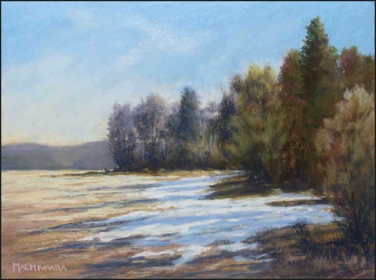 Spring is in the air Soft pastel painting by Olli Malmivaara 24 x 32 cm