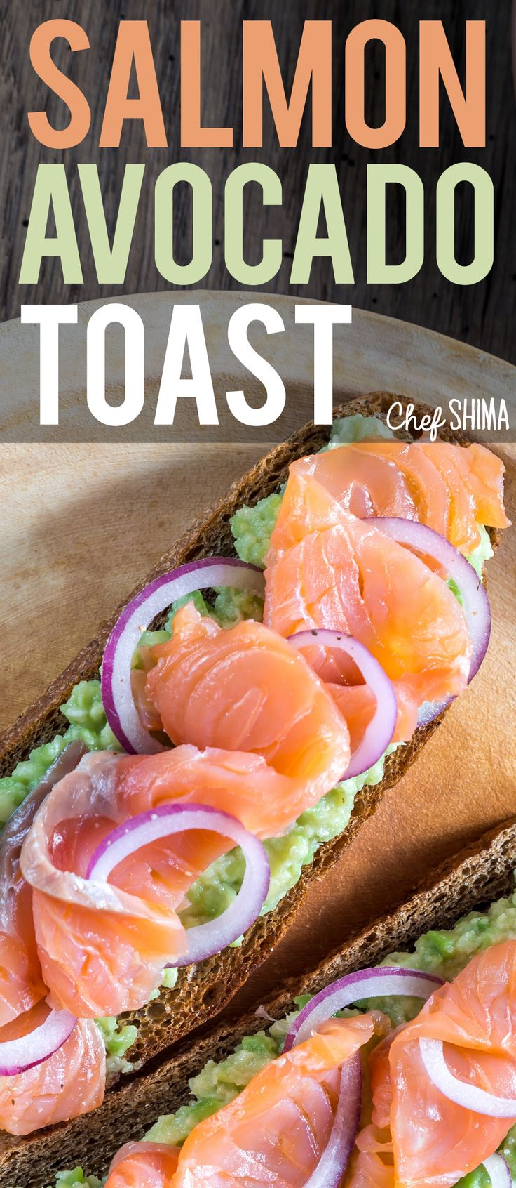 Salmon Avocado Toast | OH MY GOD! This combo of Salmon and Avocado is the best ever!
