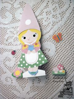 Handmade by Lissy Lou: Gnomie Paper Doll