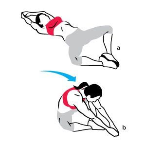 The Do-Anywhere Cross Fit Workout: The Butterfly Situp: Lie faceup on the