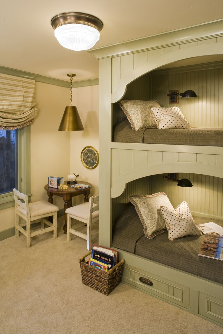 337 best Bunk Rooms images on Pinterest   Bunk bed, Bunk beds and ...