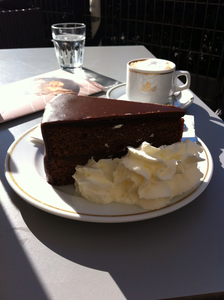 Sacher Torte , Wien.  We made a pilgrimage to have the original, and sat at a table next to the actor Jeffrey Tambor.  Super friendly, he put up with my chit-chat and was kind to our young child.  Good times!
