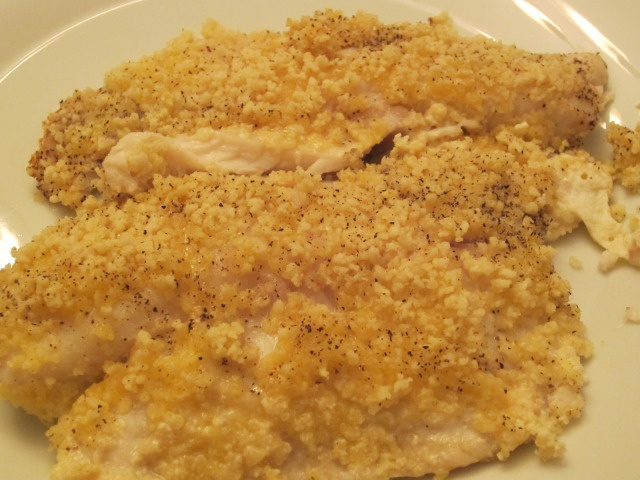 Simple Paleo Macadamia Nut crusted Tilapia