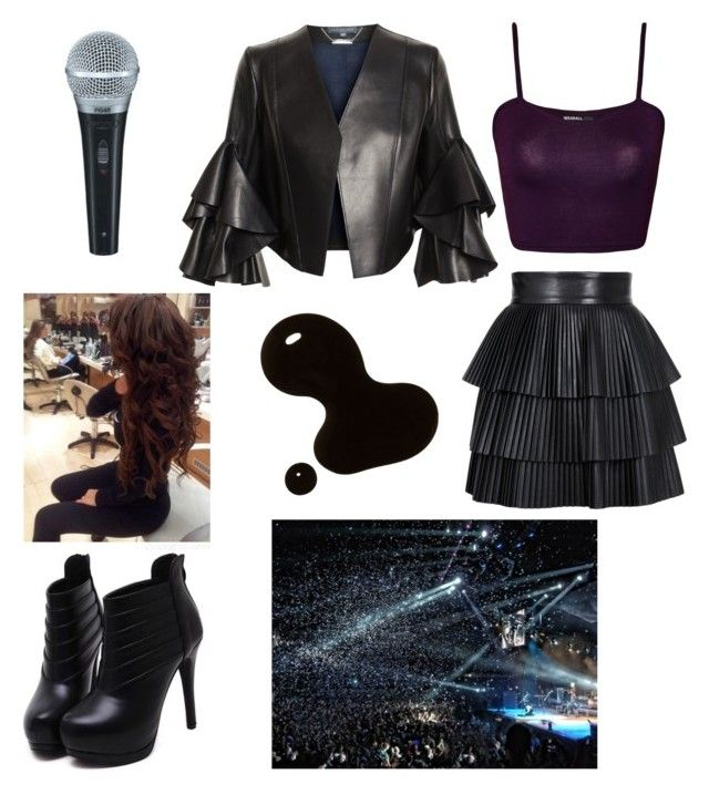 """""""New Concert Outfit - By Twee :) <3 <3"""" by twetiee on Polyvore featuring River Island, Alexander McQueen, Balmain, WearAll, Ted Baker, Aidan Mattox and Madam Rage"""