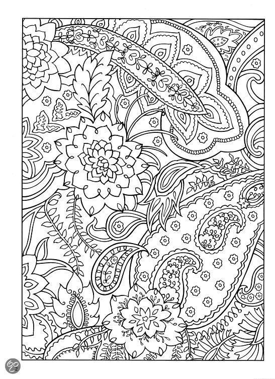 paisley designs coloring book abstracte kleurplaten