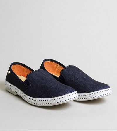 Rivieras Leisure Shoes Slip Ons: Dark Blue Jeans (for women) - 10% OFF
