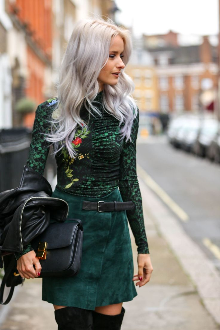 I think this might be my favourite look from LFW! The colour palette, the loose waves and the leather accents, swoon!