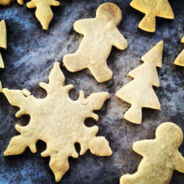 Cut-out Sugar Cookies. (Grain/Gluten/Egg/Soy/Dairy Free with directions to make Sugar Free.)
