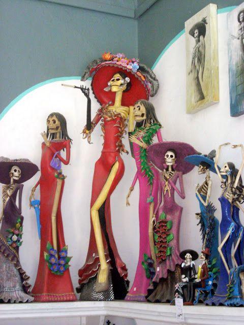 Catrina from Capula, Michoacan, ala Angelina Jolie at Oscars 2012