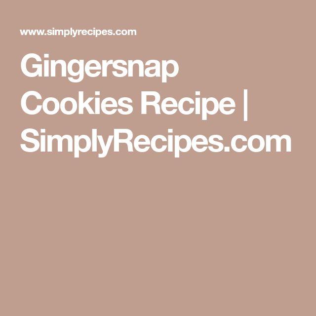 Gingersnap Cookies Recipe | SimplyRecipes.com