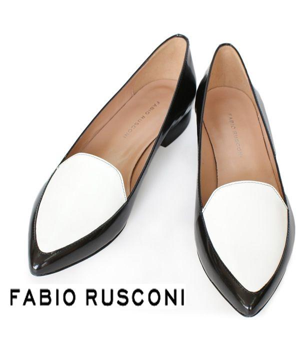 FABIO RUSCONI(ファビオ・ルスコーニ) バイカラーシューズパンプス #シータ・ミュー