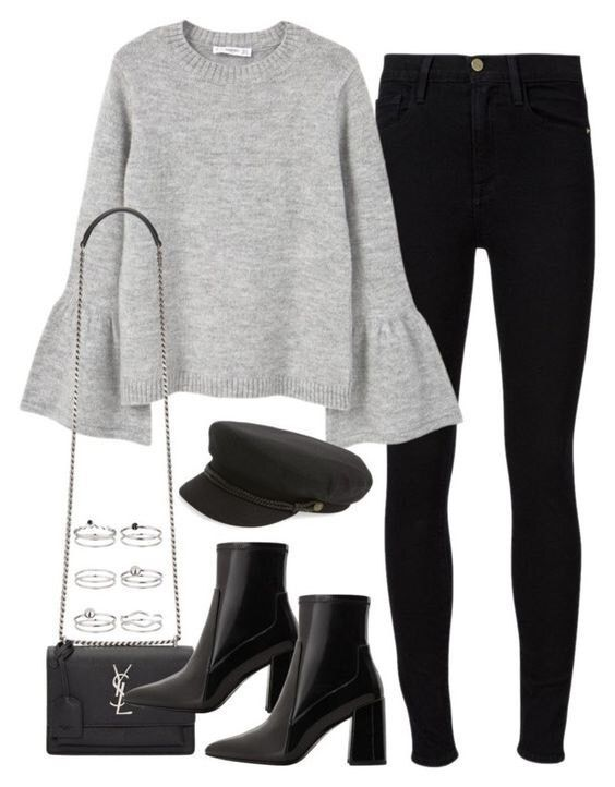 grey blouse with black jeans, black booties, and a caddy hat. Visit Daily Dress ... 11