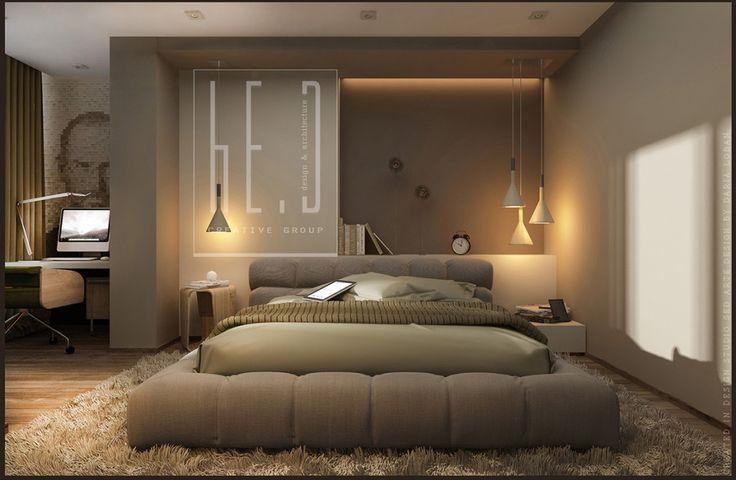 Цвета, полочки над кроватью, кровать, похожая планировка