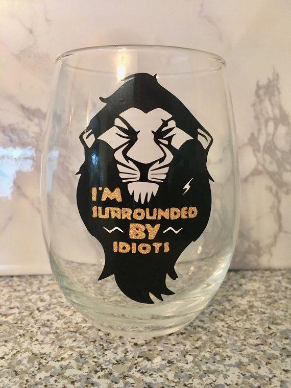 The Lion King Hakuna Matata Glitter Wine Glass Birthday Personalised Gift