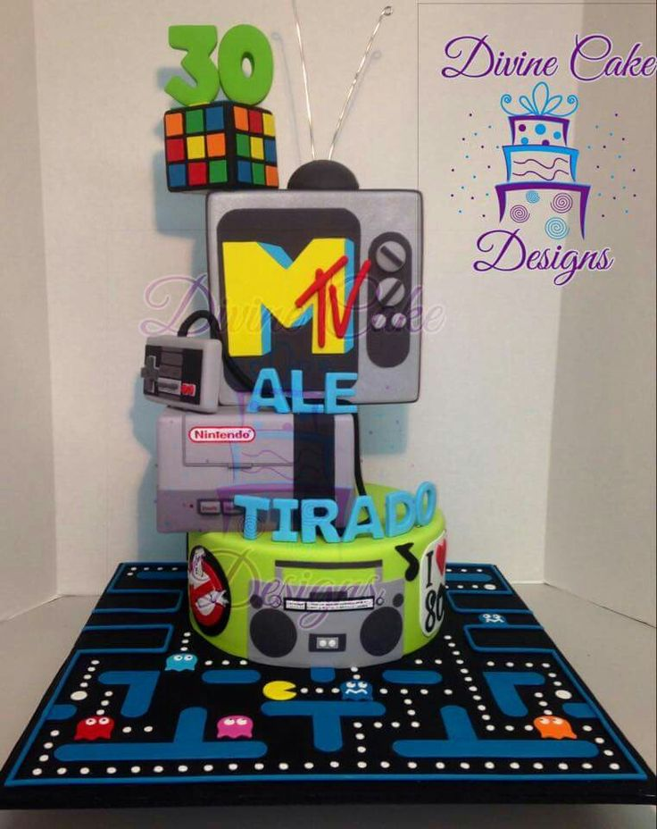 83 best images about 80 39 s birthday party on pinterest for 80s cake decoration ideas