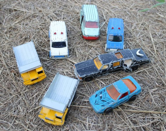 7 MaJorette Toy Cars Made in France late 70s and by CharleysRoses, $16.95