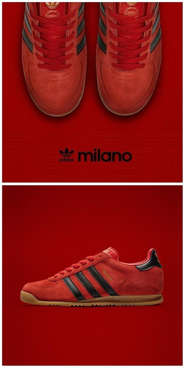 3a2cffa09 adidas Originals Milano  Red Black WOMEN S ATHLETIC   FASHION SNEAKERS  amzn.to 2kR9jl3  Sneakers