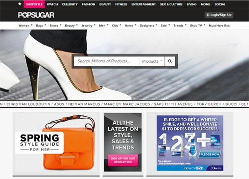 Best online shopping sites: Shopstyle