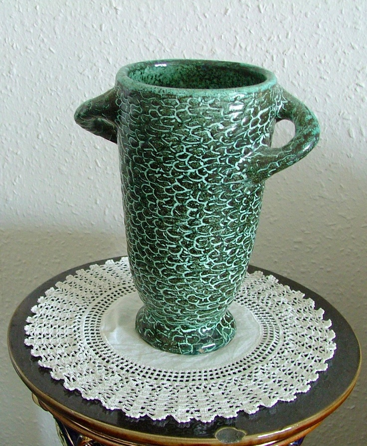 Vase with scaly surface