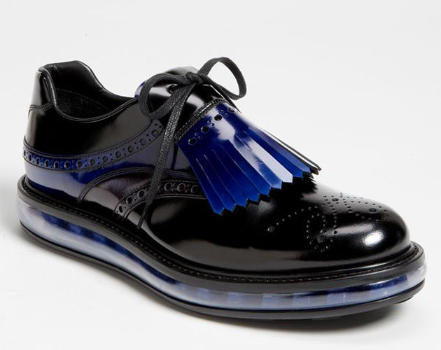 Love the new Mens Prada shoes for spring... one of several re-imagined show concepts. Google Image Result for http://www.highsnobiety.com/files/2012/08/prada-levitate-shoe-series-8.jpg