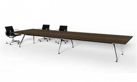 T12 - Boardroom Table 1600 x 5000 System Leg Table 2 x Cable Management Table Box with Cable Tray/Floor Box 2 x Umbilical Under to Floor Box Table Connectors to underside of all Tops to ensure tables are level Size: 1600mm (W) x 5000mm (L) x 730mm (H) Note: Fixed Leg Style, Top to Look Continuous Top: White Natural Finish: Laminate with White ABS Edge Base: White Powercoat Apollo