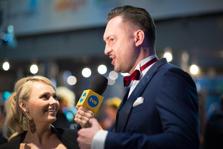 Marcin Prokop, prowadzący galę.