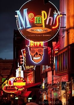 Beale Street - Memphis. Oh the lights! Don't miss your chance to visit Memphis and experience the nightlife first hand. #memphis #remaxtn