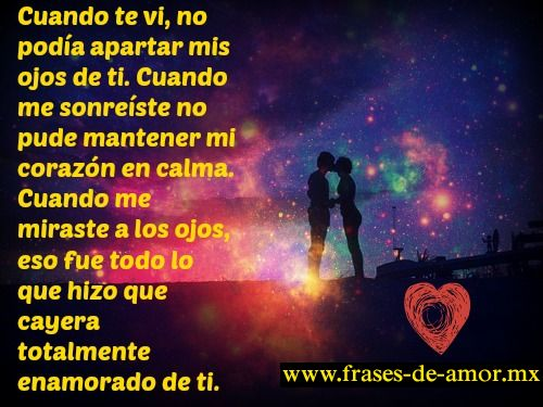 enamorado de ti, fraces de amor, frases de amor imagenes http://frases-de-amor.mx/no-podia-apartar-mis-ojos-de-ti/ #frasesdeamor #frases #amor #citas