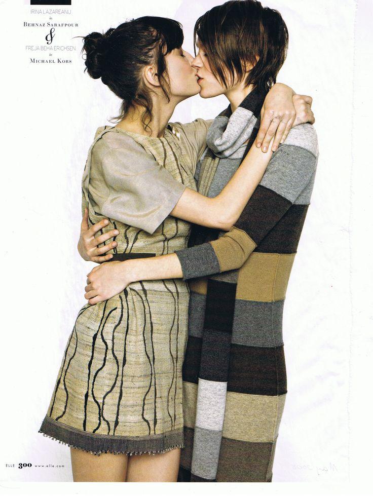 Irina Lazareanu (l) + Freja Beha Erichsen (r) - messy bun + short hair