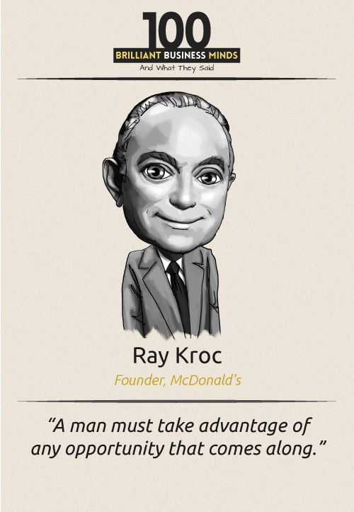 Ray Kroc - Inspirational Quote