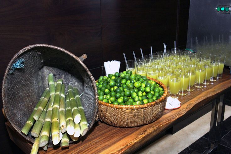 Fresh sugarcane juice will keep guests energized and satisfied.