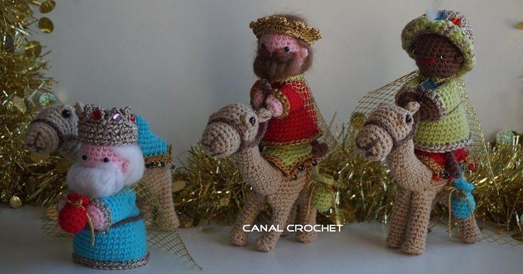 CANAL CROCHET: Reyes Magos amigurumi patrón libre.                                                                                                                                                                                 Más