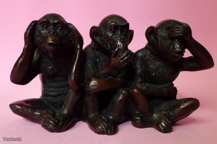 Apina neuvoja 3kpl viisasta juttua, korkeus 6cm - Huuto.net