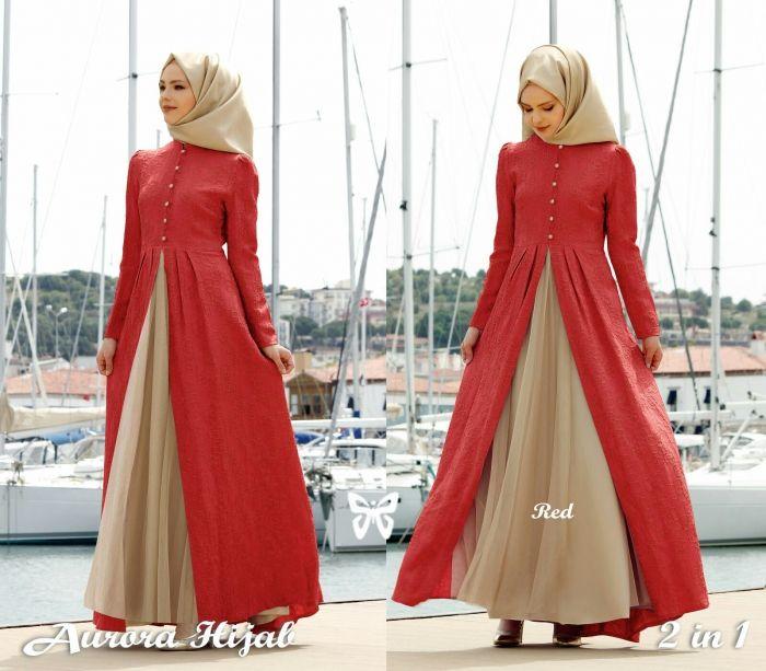 Model Baju Gamis Rompi Pendek Model Pakaian Muslim Model Pakaian Baju Muslim