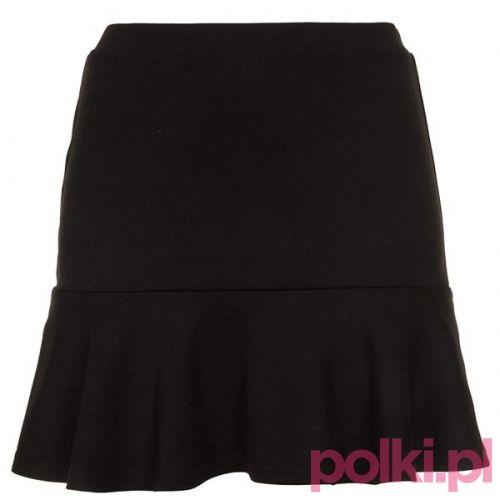 Czarna spódnica z falbanką, topshop #polkipl