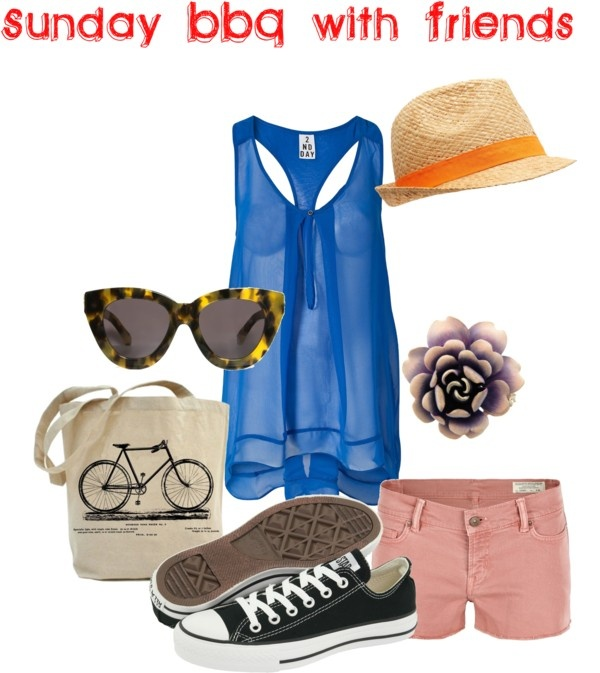 Sunday BBQ with Friends, created by courtney-cason-hathaway on Polyvore