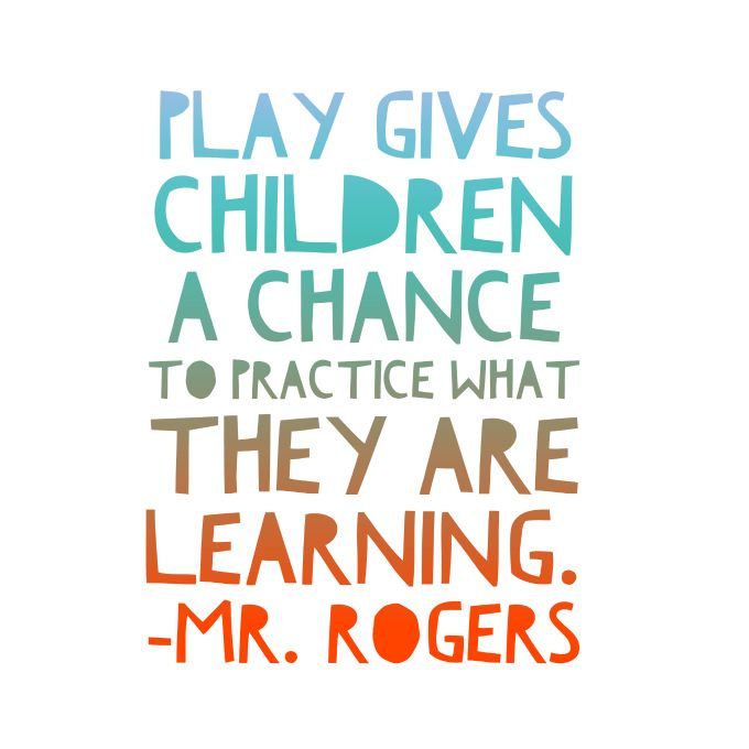 Mister Rogers on the importance of children's play. ""