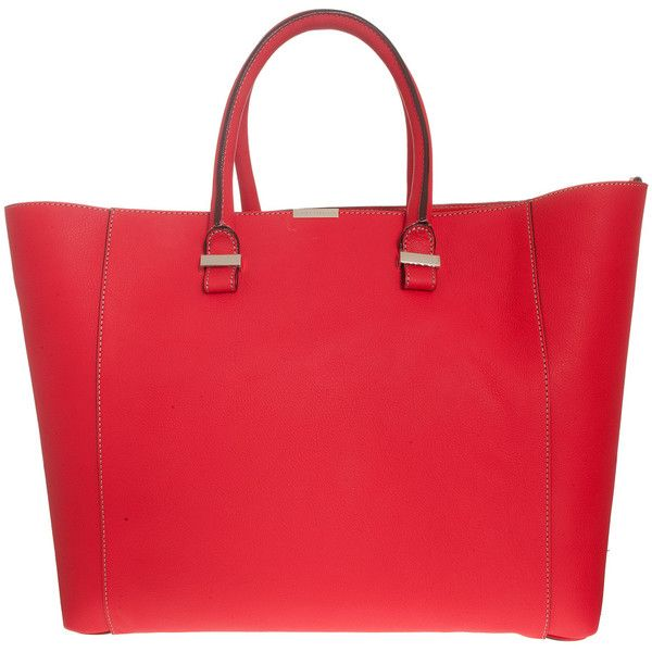 VICTORIA BECKHAM BAGS Liberty Tote ($1,850) ❤ liked on Polyvore featuring bags, handbags, tote bags, victoria beckham purses, victoria beckham handbags, red tote, red purse and red tote bag