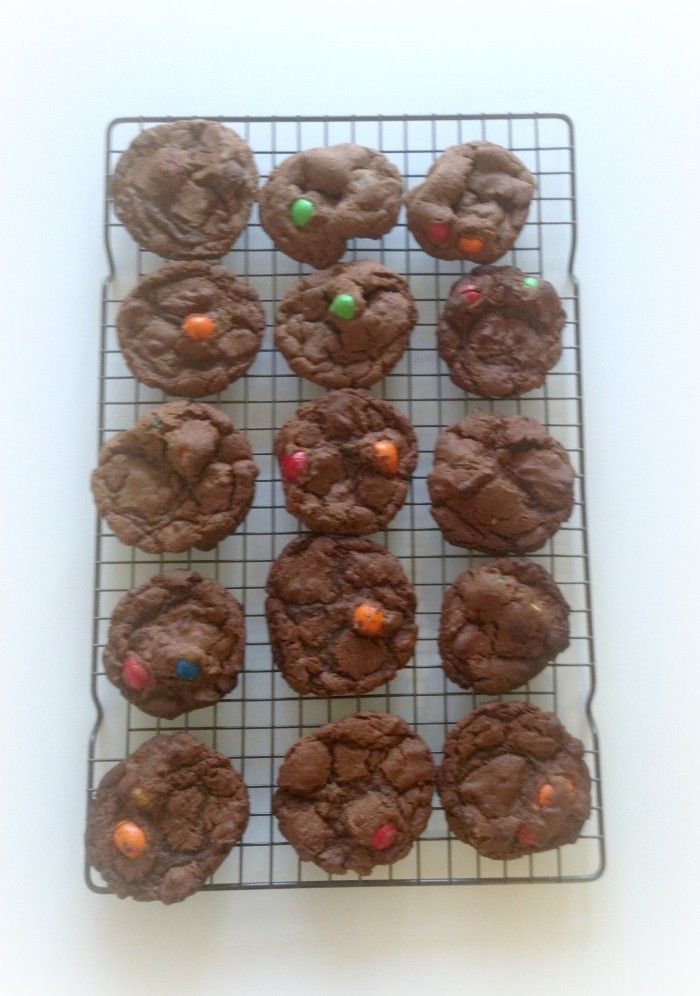 Thermomix M&M Chocolate Chewy Cookies
