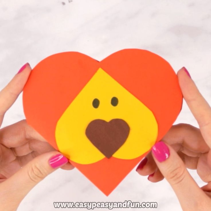 Heart Lion Craft – Valentines Day Card Idea